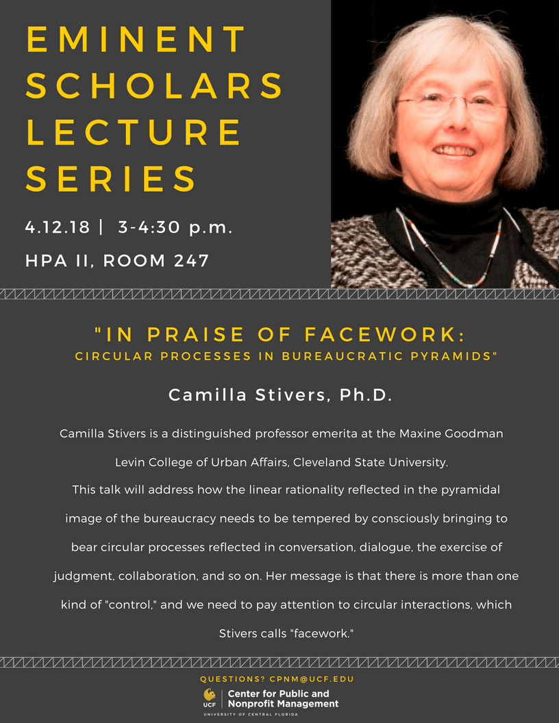 Camilla STivers, Ph.D. | 4.12.18 | 3-4:30pm | HPA II, Room 247