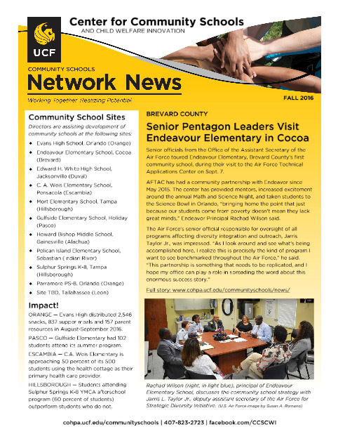 Fall 2016 Newsletter